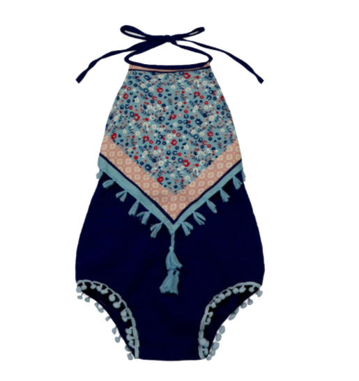 Baby/Toddler Navy Boho Romper