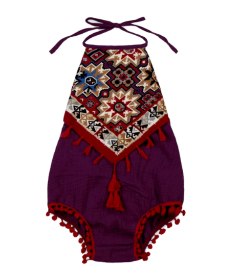Baby/Toddler Cranberry Boho Romper