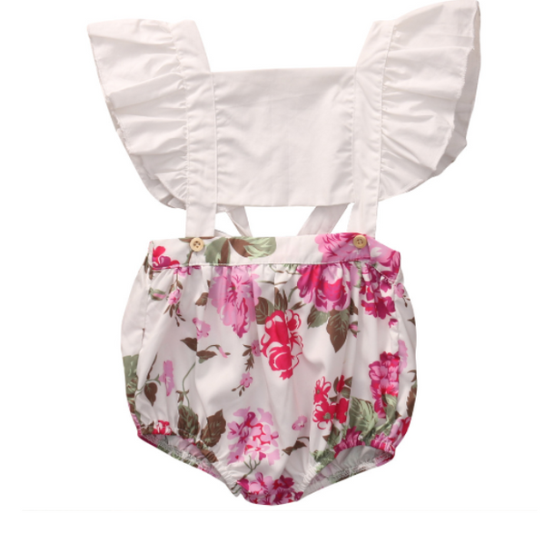 Baby/Toddler Floral Button Romper