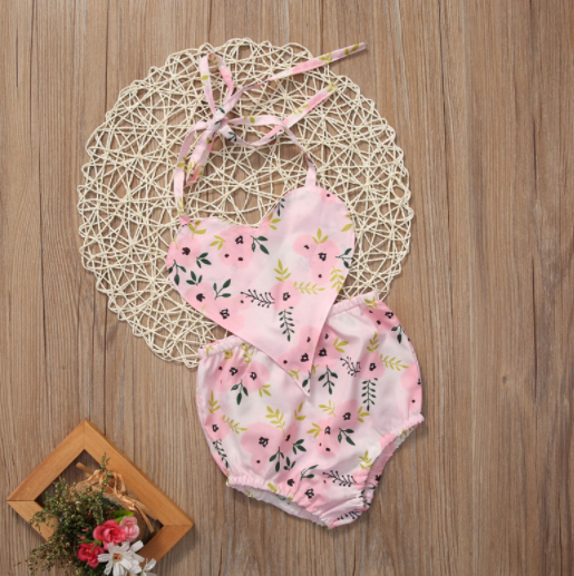 Baby/Toddler Floral Heart Romper