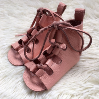 Baby Gladiator Sandals - Dusty Pink