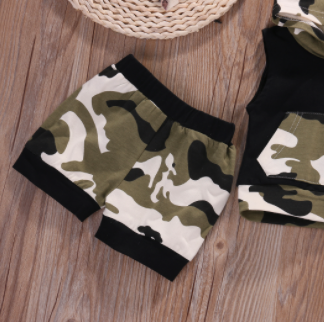Baby/Toddler Camouflage Hoodie/Shorts