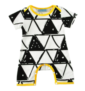 Baby/Toddler Geometric Romper