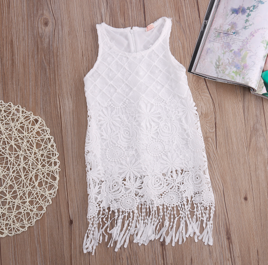 Baby/Toddler White Lace Dress