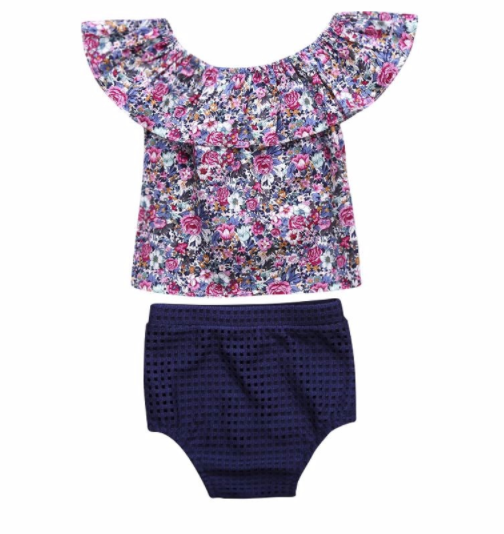 085e1c99a Baby/Toddler Floral Shirt/Bloomer Set