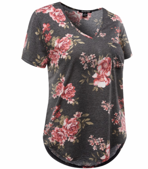 Women's Tee - Floral Pocket
