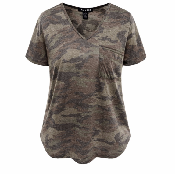 Women's Tee - Camouflage Pocket