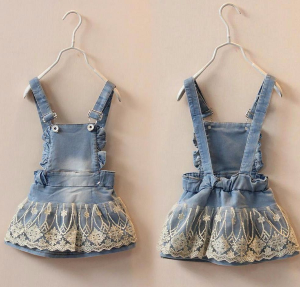 Baby/Toddler Overall Lace Dress