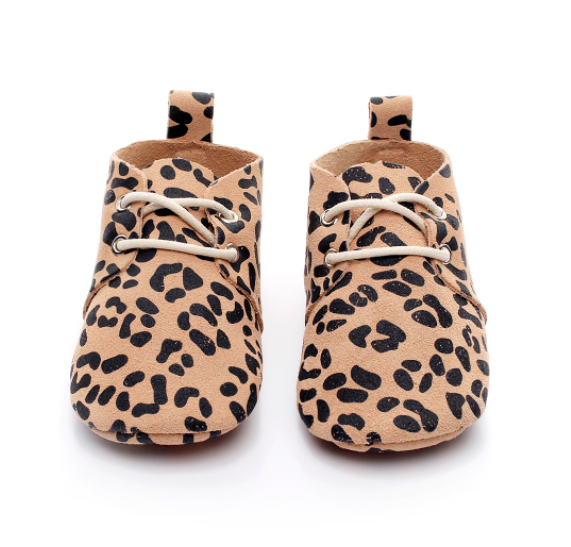 Baby Lace Up Oxford - Leopard