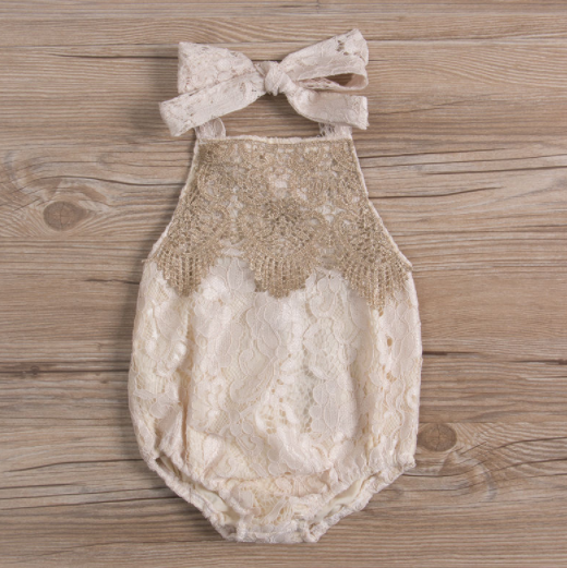 Baby/Toddler Lace Halter Romper