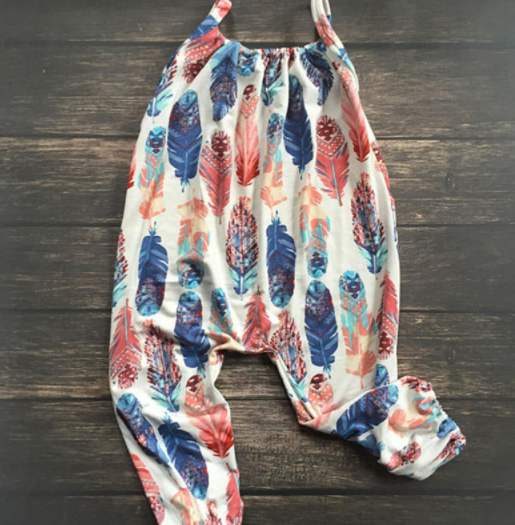 Baby/Toddler Feather Romper