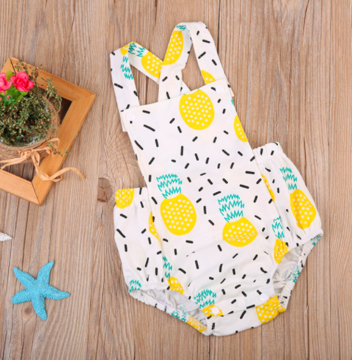 Baby/Toddler Pineapple Romper