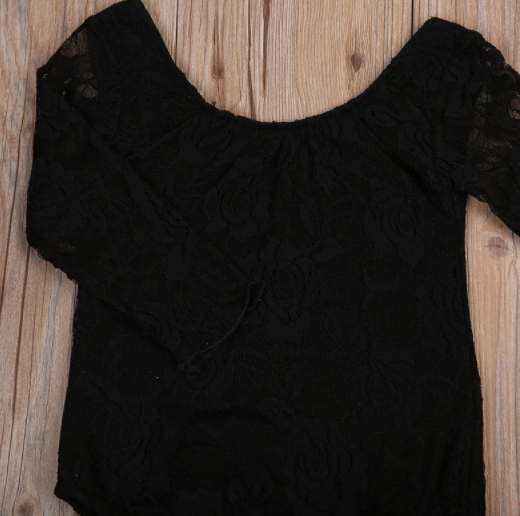 Baby/Toddler Black Lace Bodysuit