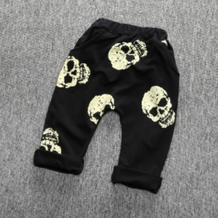 Baby/Toddler Black Skull Harem Pants