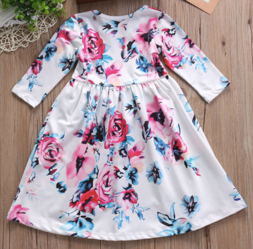 Baby/Toddler White Floral Dress
