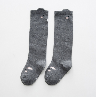 Baby/Toddler Grey Squirrel Knee High Socks
