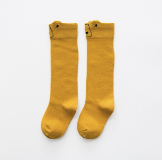 Baby/Toddler Mustard Bear Knee High Socks