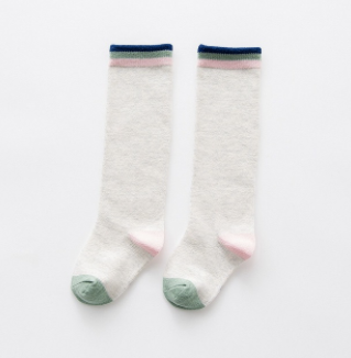 Baby/Toddler Navy, Sage and Blush Knee High Socks