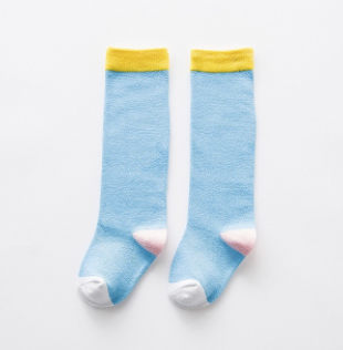 Baby/Toddler Blue and Yellow Knee High Socks