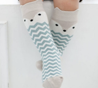 Baby/Toddler Fox Chevron Knee High Socks