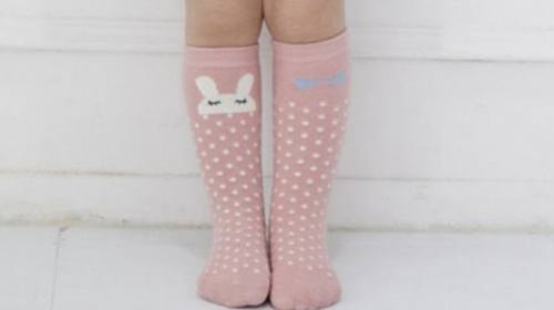 Baby/Toddler Pink Bunny Knee High Socks