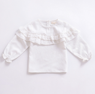 Baby/Toddler White Peasant Top