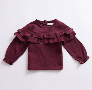 Baby/Toddler Eggplant Peasant Top