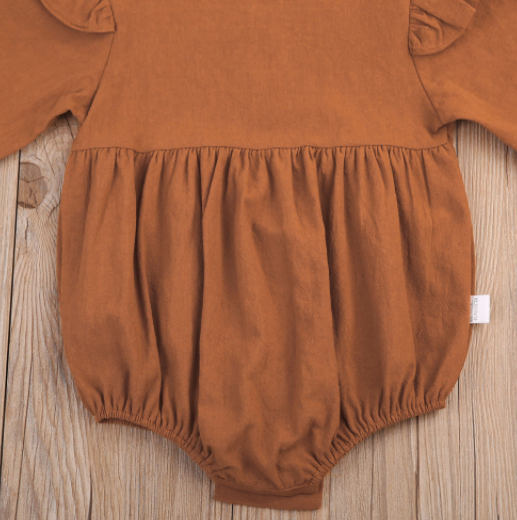 Baby/Toddler Rust Long Sleeve Bodysuit