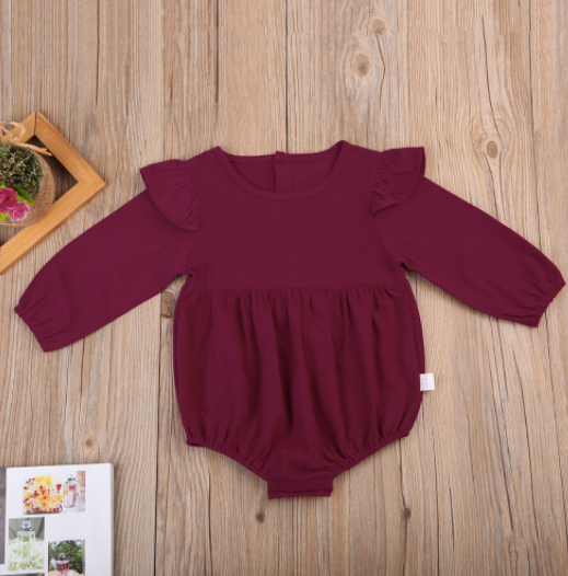 Baby/Toddler Plum Long Sleeve Bodysuit