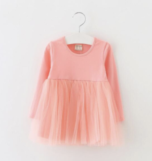 Baby/Toddler Pink Tutu Long Sleeve Dress