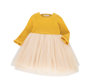 Toddler/Kids Mustard Tulle Dress