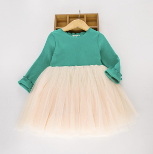 Toddler/Kids Emerald Tulle Dress