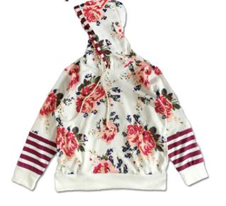 Toddler/Kids Floral/Striped Sweatshirt
