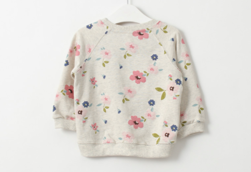 Baby/Kids Floral Pullover