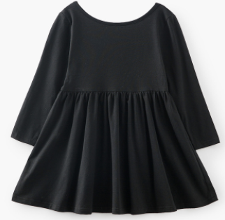 Baby/Toddler/Kids Black Swing Dress