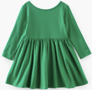 Baby/Toddler/Kids Green Swing Dress