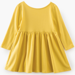 Baby/Toddler/Kids Yellow Swing Dress