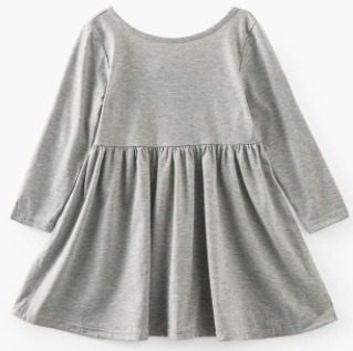 Baby/Toddler/Kids Grey Swing Dress