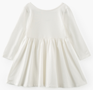 Baby/Toddler/Kids White Swing Dress
