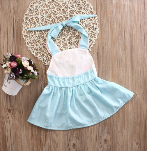 Baby/Toddler Bunny Halter Dress