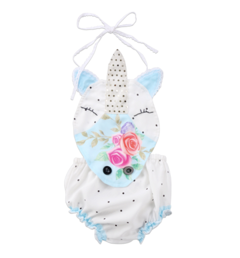 Baby/Toddler Unicorn Tie Romper