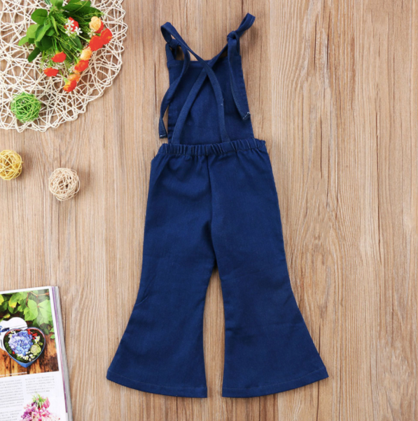 Baby/Toddler Overall Romper Bell Bottom Jumpsuit