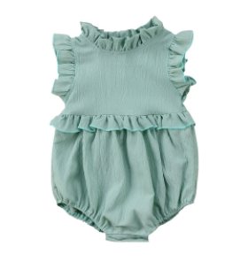 Baby/Toddler Mint Sleeveless Romper