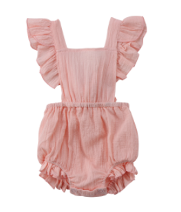 Baby/Toddler Pink Tie Back Romper