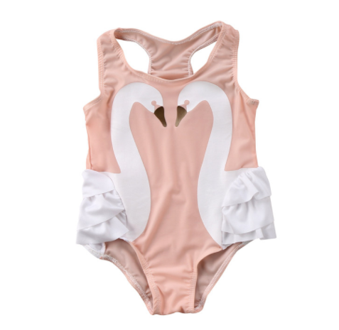 Baby/Toddler Double Swan Pink Swimsuit