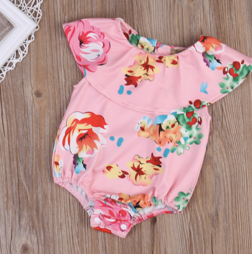 Copy of Baby/Toddler Pink Floral Swimsuit