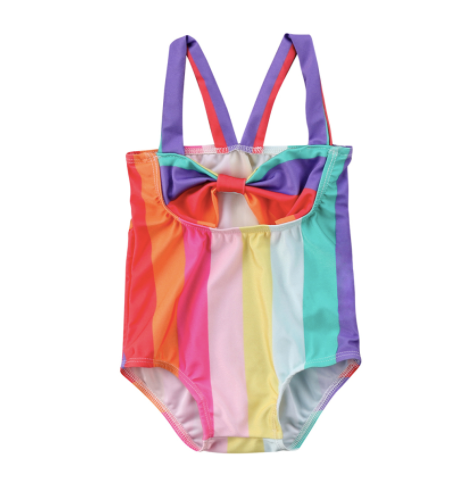 Baby/Toddler Rainbow Bow Swimsuit