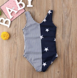 Mom and Baby Matching Stars/Stripes Bathing Suit