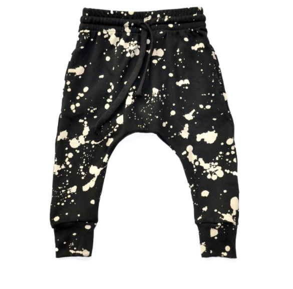 Baby/Toddler Black and White Harem Pants