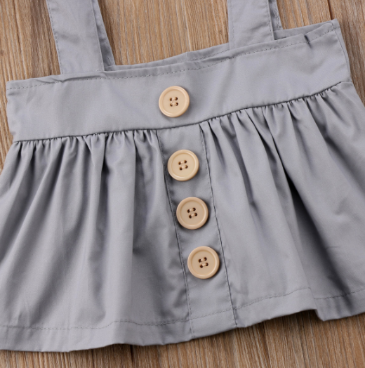 Baby/Toddler Grey Suspender Dress